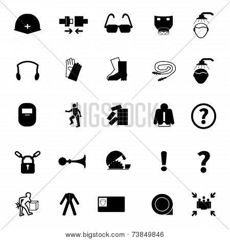 Mandatory signs Construction health and safety sign used in industrial applications.Vector illustration poster
