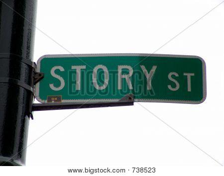 Geschichte-Straßenschild