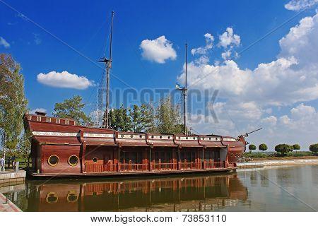 Galleon Ship-restaurant In Mezhyhirya - Former Residence Of ex-president Yanukovich