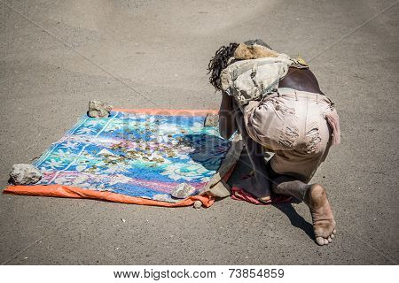 Beggar In The Streets Of Addis Ababa