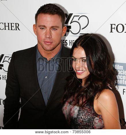 NEW YORK-OCT 10: Actor Channing Tatum (L) and wife Jenna Dewan Tatum attend the