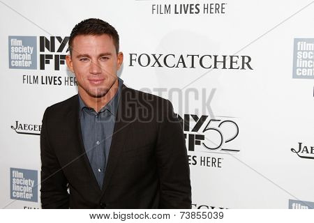 "NEW YORK-OCT 10: Actor Channing Tatum attends the ""Foxcatcher"" premiere at the 52nd New York Film Festival at Alice Tully Hall on October 10, 2014 in New York City."