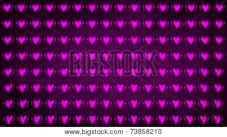 Background Of Purple Hearts
