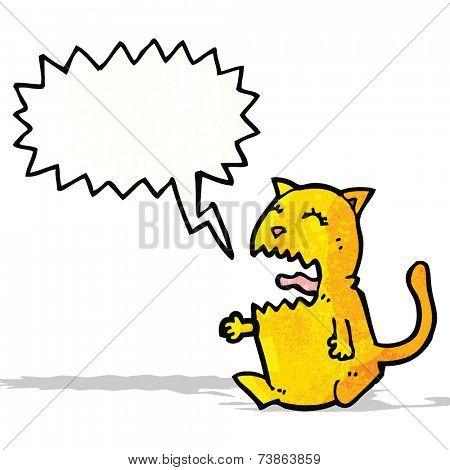 shrieking cat cartoon
