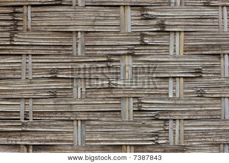 Pattern In A Bamboo Mat