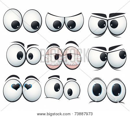 Cartoon Expression Eyes With Different Views