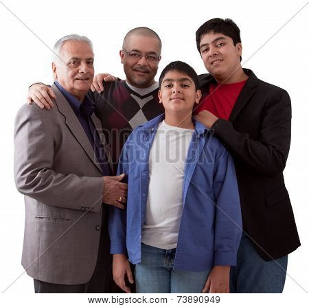 Three Generations Of An Indian Family