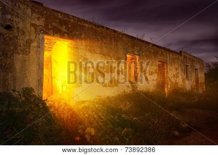 Mysterious Light In Abandoned House