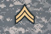 us army uniform with corporal rank patch poster