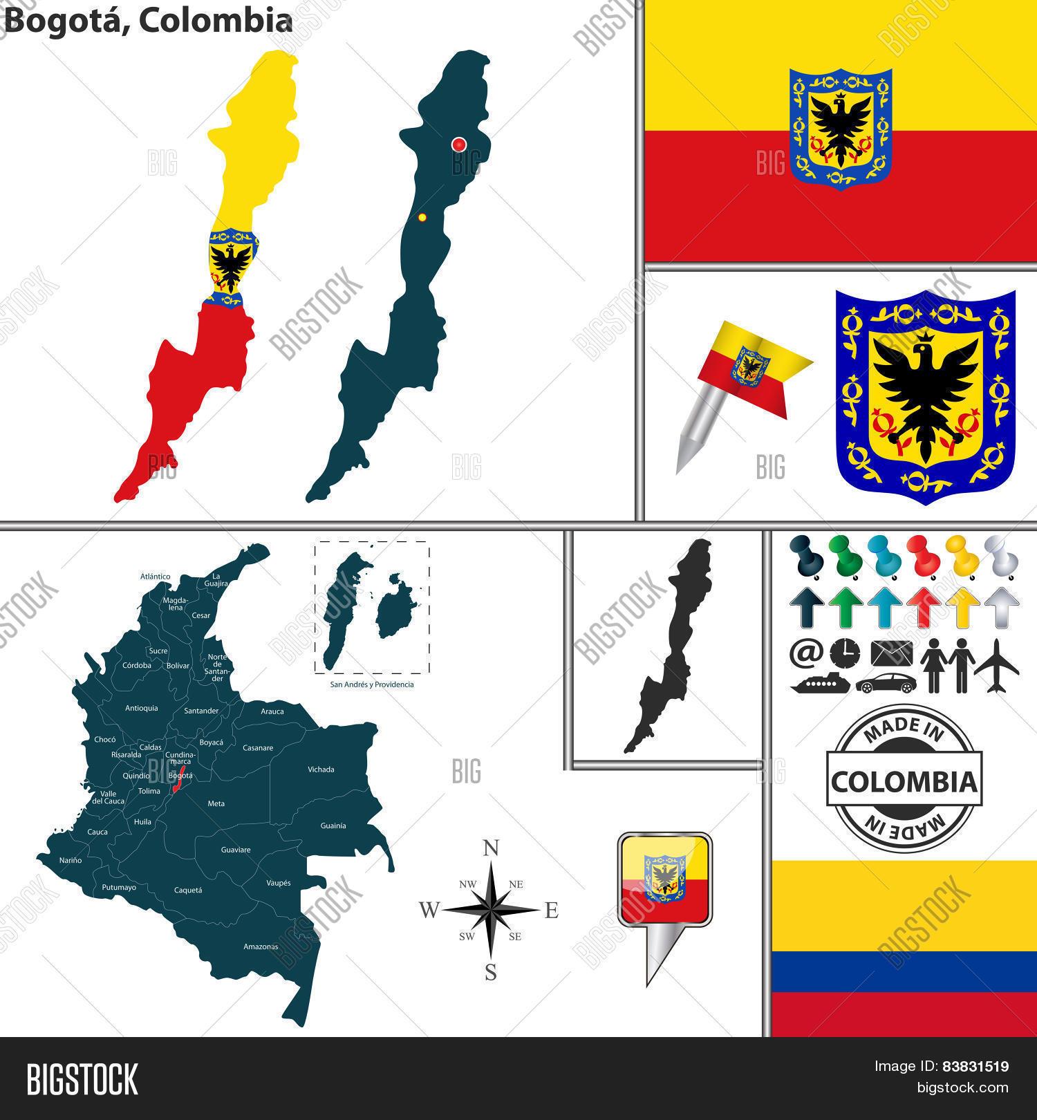 Map Bogota, Colombia Vector & Photo (Free Trial) | Bigstock