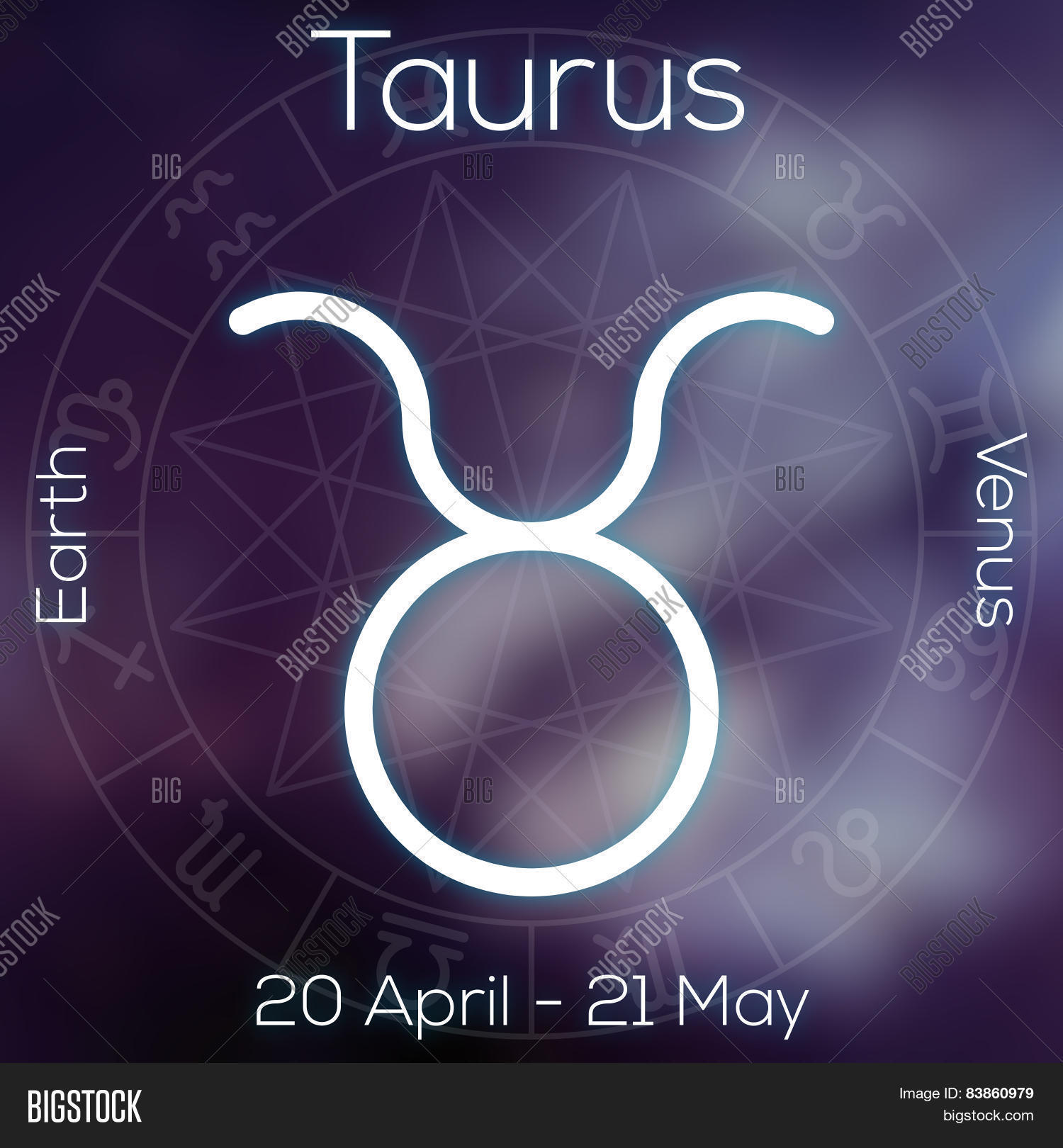 Zodiac Sign Taurus Image Photo Free Trial Bigstock