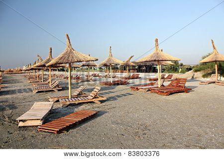 Sun umbrellas on the beach