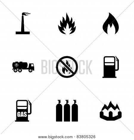 Vector natural gas icon set