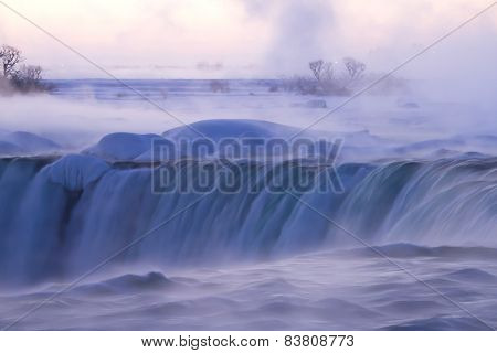 Mist and Fog at Niagara Falls on a Winter Morning