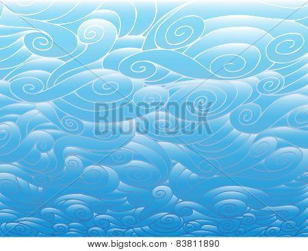 Gradient Clouds Pattern
