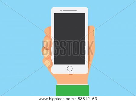 Smart phone in hand mock up