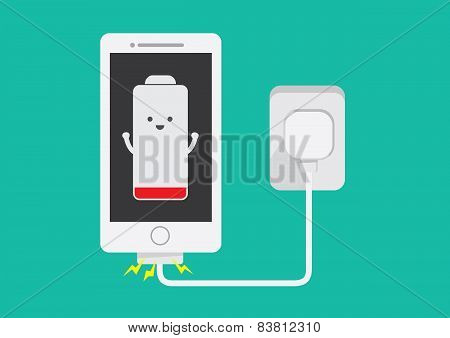 Smart phone charging battery