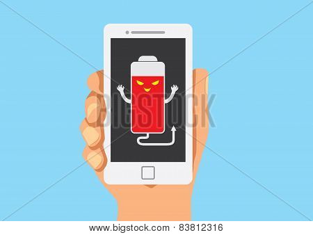 False battery of mobile