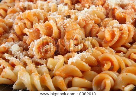 Noodles With Sauce And Cheese