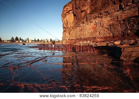 Orange cliffs