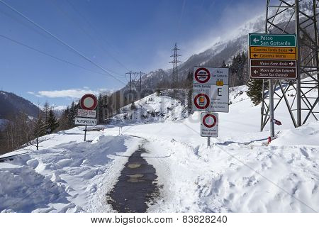 Gotthard - Road Closed In Winter