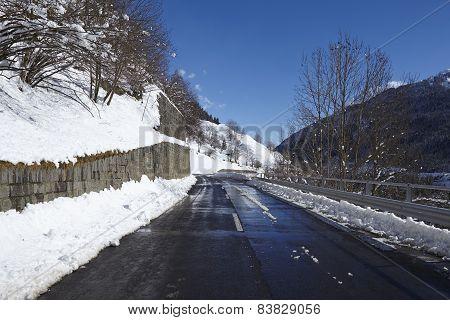 Ticino (switzerland) - Via S. Gottardo With Snow