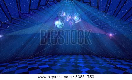 Blue Disco Background