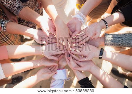 many different females hands