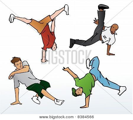 Breakdancing Vector Illustration