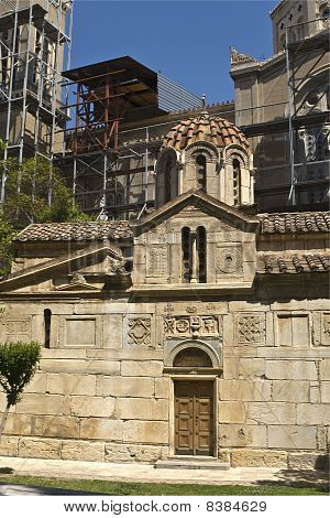 Old chapel close to the Athens Cathedral at Greece