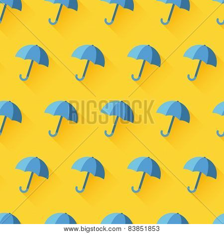Vector icon of umbrella on yellow background