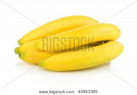 Group Of Bananas On White Background