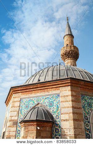Facade Of Ancient Camii Mosque, Konak Square, Izmir