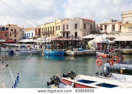 Old Venetian Port Of Rethymno, Crete, Greece