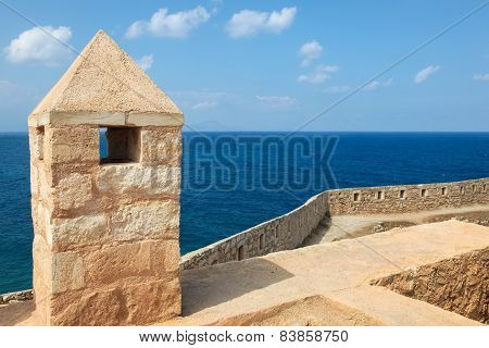 Venetian Fortezza or Citadel in the city of Rethymno on the island of Crete Greece created in 1573. poster