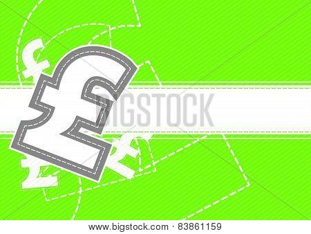 Pound Money Icon Background Design