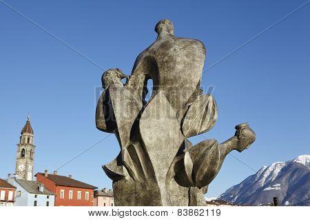 Ascona (switzerland)  - Sculpture At Lago Maggiore