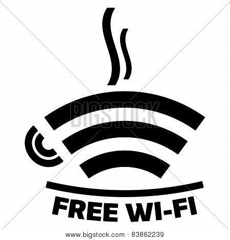 Free Wi-fi Cafe Icon