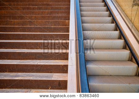 Stairs Vs Escalator