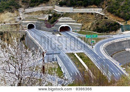 Egnatia international highway at Greece