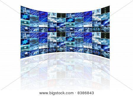 Multi Screen On White