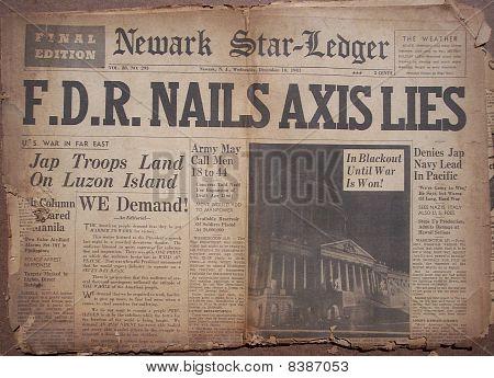 Historical World War Headlines 3