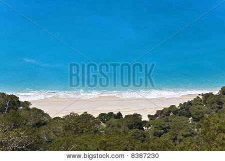 Kalamitsi beach at Lefkada island, Greece