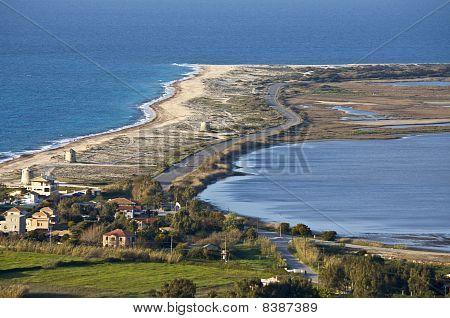 Lefkada island in Greece