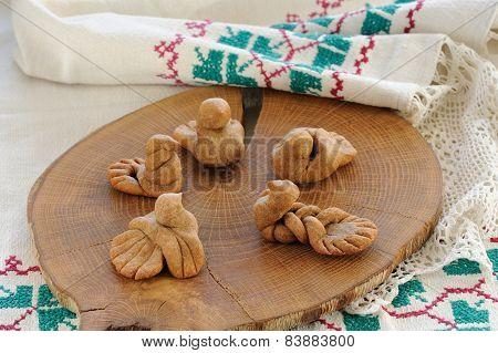 Zhavoronki, Russian Rye Cookies For Spring Equinox Selebration