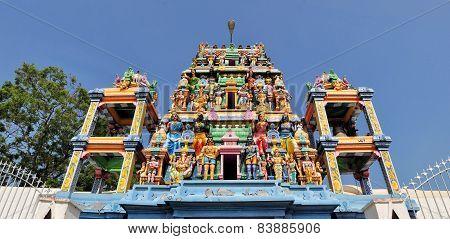 Tamilian Hindu temple Sri Naga Pooshani Amman Kovil, Sri Lanka poster