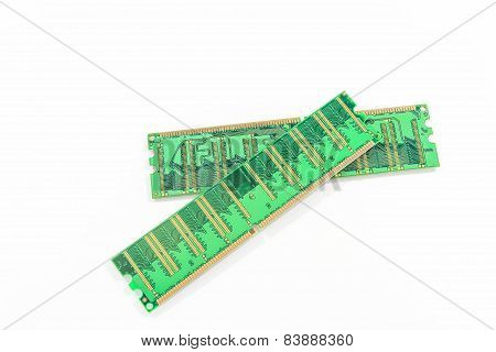 Ram Module Isolated On White