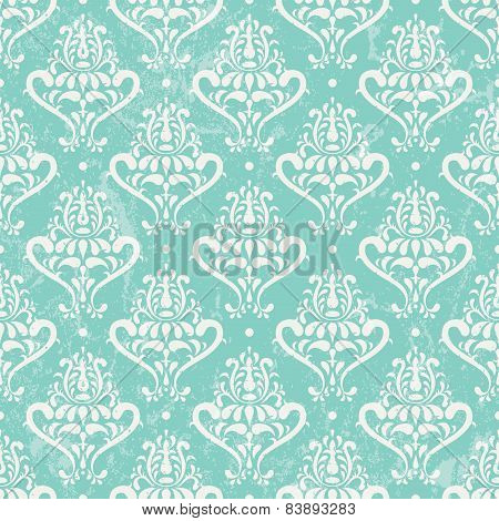 Turquoise vintage wallpaper