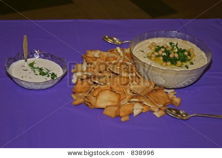 Two dips and bread