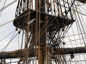 To appreciate the skill of the ancient mariners just look at the main mast rigging of a tall ship. To most folks it might as well be a plate of vermicelli. poster